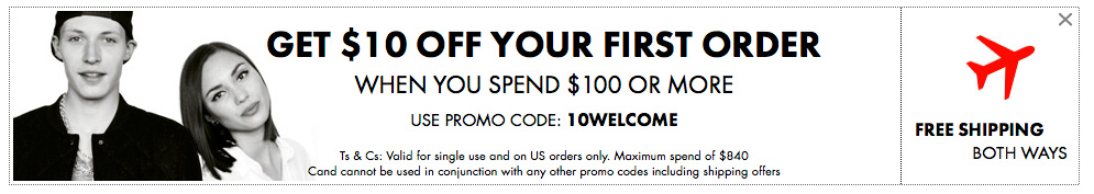 10-discount+free shipping