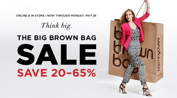 Bloomingdale's is taking an extra 20% off during the Big Brown Bag Sale with Coupon Code: SPRING20 (Exp 5/25, discount applies in cart with qualifying items). 5/5(2).
